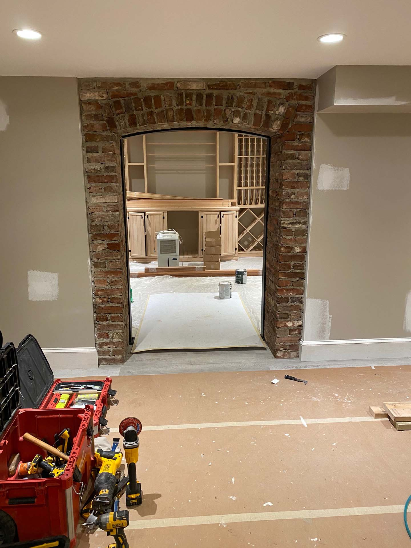 Custom Brick Archway with Recessed Pointing